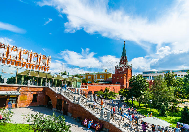 Kremlin tour 1: Tourists step up to access control stock photos