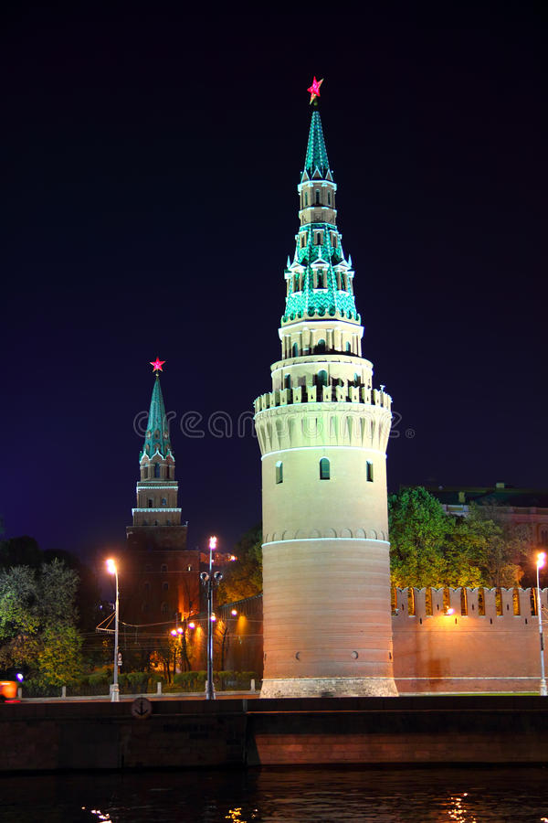 Download Kremlin Tower At Night In Moscow Stock Image - Image: 16961953