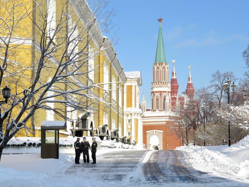 Kremlin w zimie fotografia stock