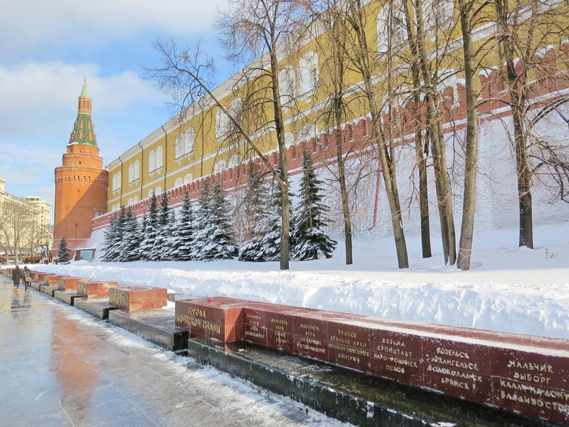 Kremlin wall royalty free stock photo