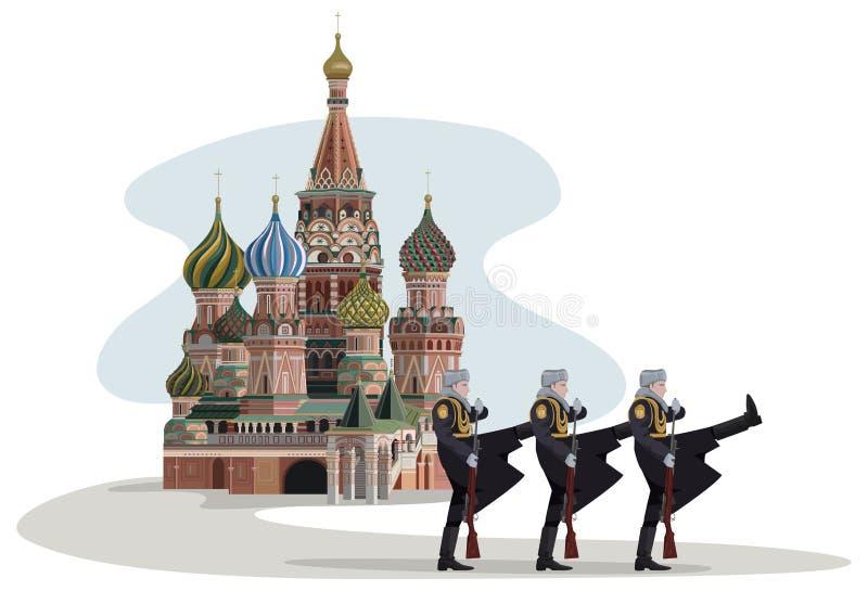 Kremlin y soldados rusos libre illustration