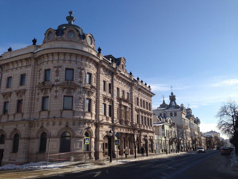 Kremlowska ulica w Kazan Kremlin obraz stock