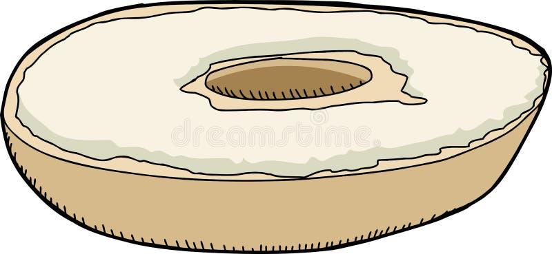 Kremowego sera Bagel royalty ilustracja