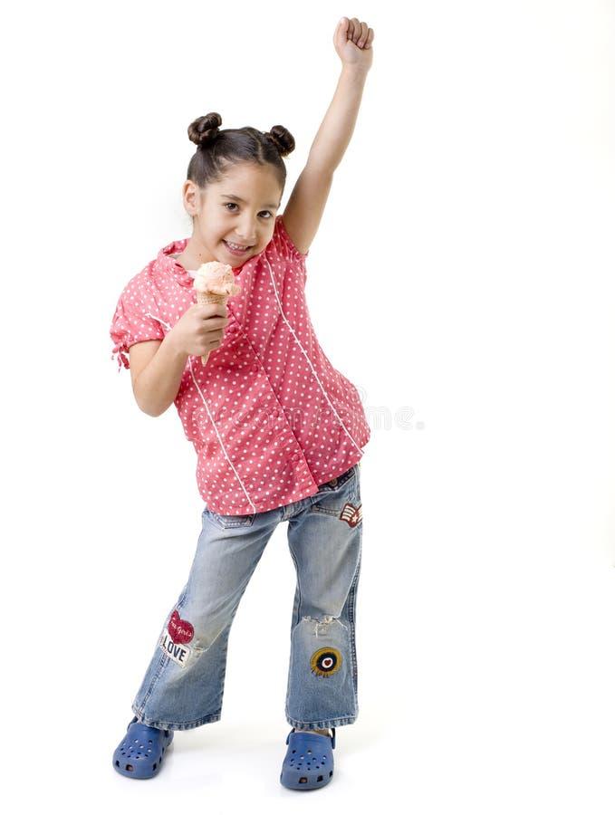 kremowy łasowania dziewczyny lód trochę obrazy royalty free