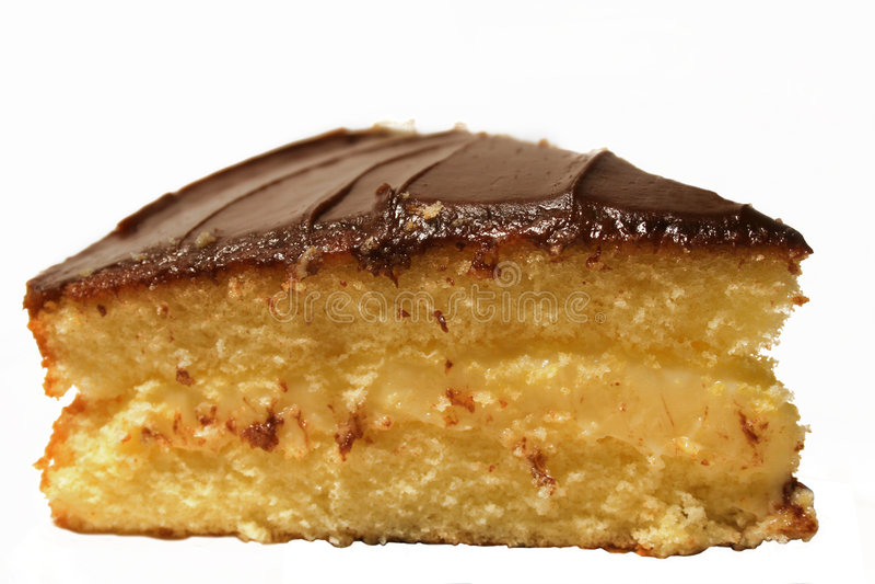 kremowy bostonu ciasta zdjęcie stock