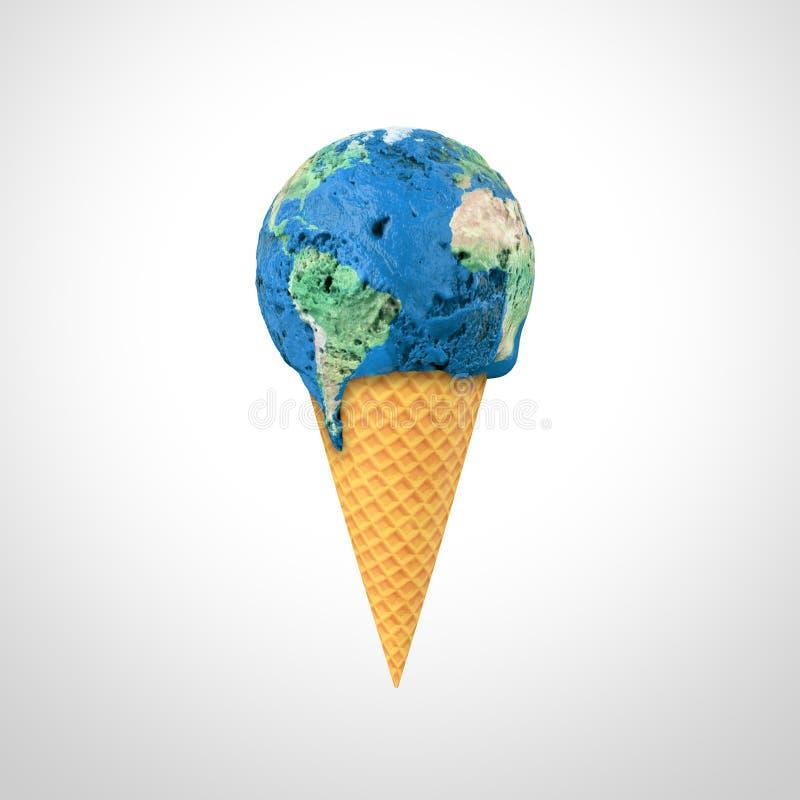 kremowy lodowy świat ilustracji