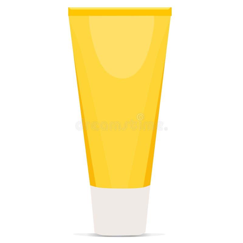 Kremowy tubka kolor żółty ilustracji