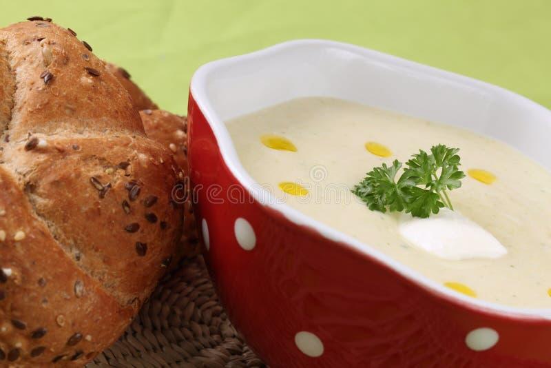 kremowy zupny warzywo obraz royalty free