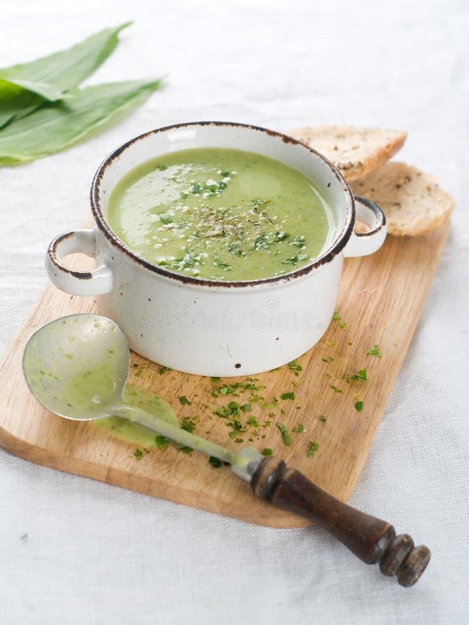 kremowy zupny warzywo obrazy royalty free
