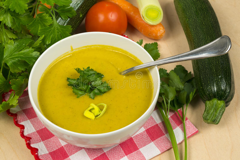 kremowy zupny warzywo obraz stock