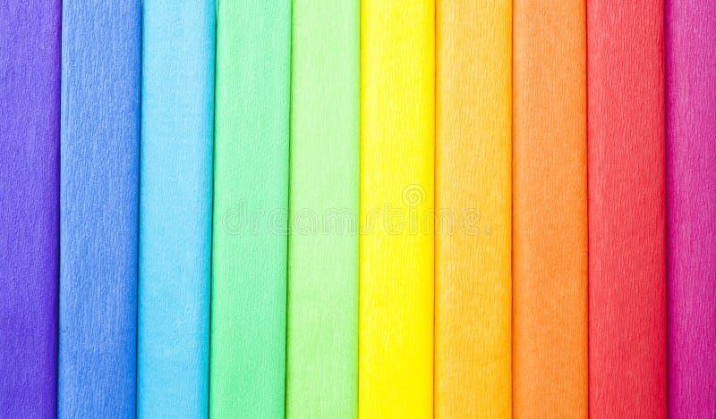 Krepdeszynowy koloru papier odizolowywający fotografia stock