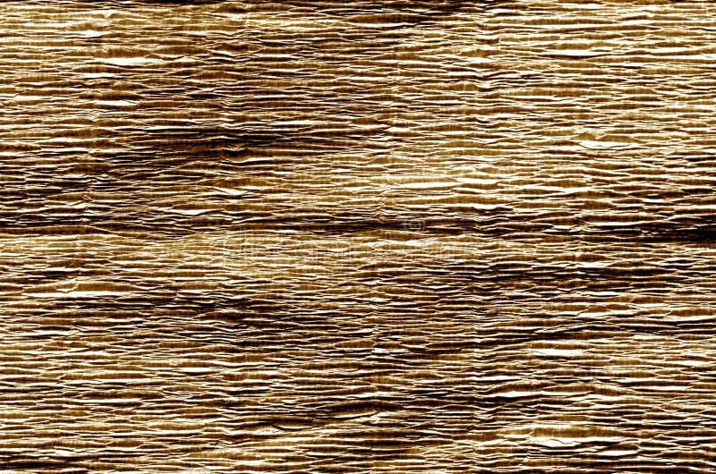 Krepdeszynowy papier w brown kolorze obraz stock