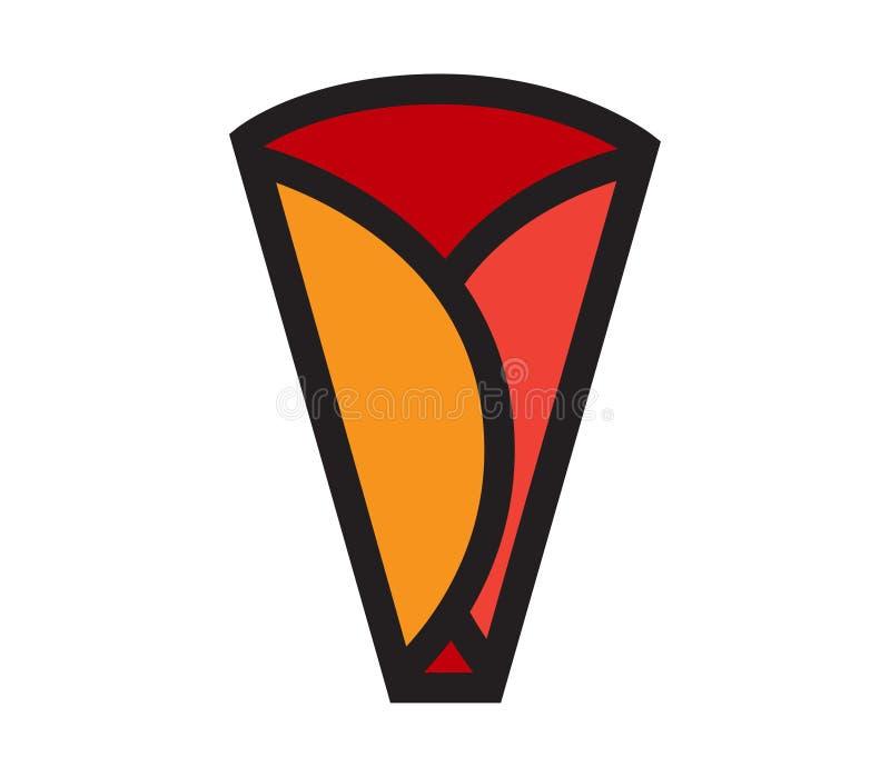 Krepp-Ikonen-Design stock abbildung