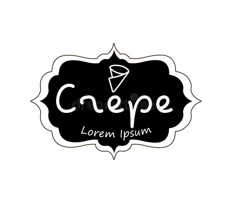 Krepp Logo Design lizenzfreie abbildung