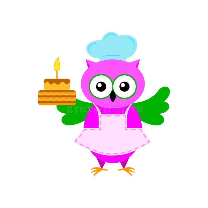 Kreskówka Cook z tortem royalty ilustracja
