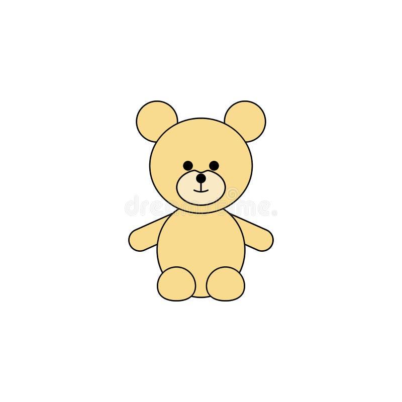 Kreskówki bea zabawki barwiona ikona Znaki i symbole mogą używać dla sieci, logo, mobilny app, UI, UX royalty ilustracja
