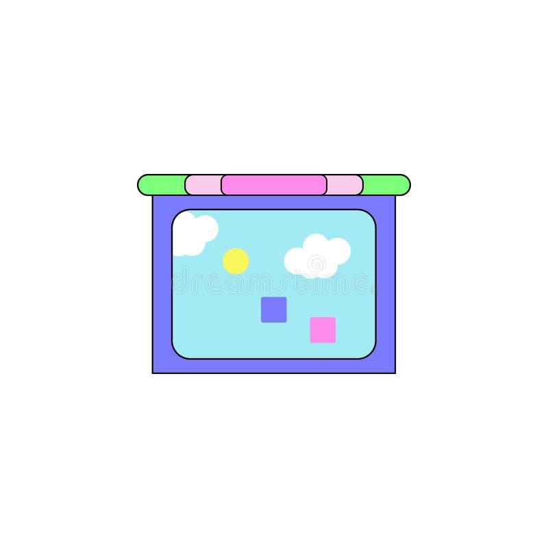 Kreskówki pastylki dzieciaków zabawki barwiona ikona Znaki i symbole mogą używać dla sieci, logo, mobilny app, UI, UX royalty ilustracja