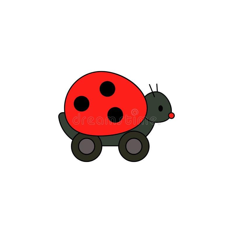 Kreskówki pluskwy damy zabawki barwiona ikona Znaki i symbole mogą używać dla sieci, logo, mobilny app, UI, UX ilustracja wektor
