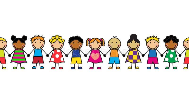 Kreskówek bezszwowe serie dzieci royalty ilustracja