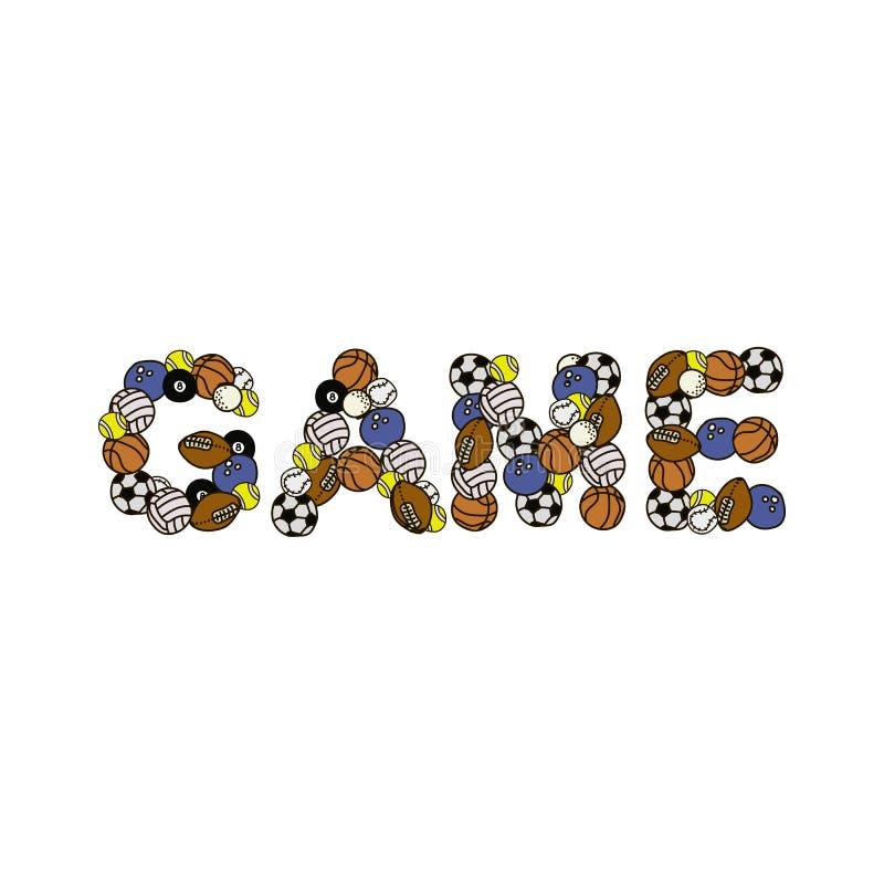 Kreskówek doodles Gamel śliczny słowo ilustracja kolorowa T?o z udzia?ami oddzielni przedmioty ?mieszna wektorowa grafika ilustracji