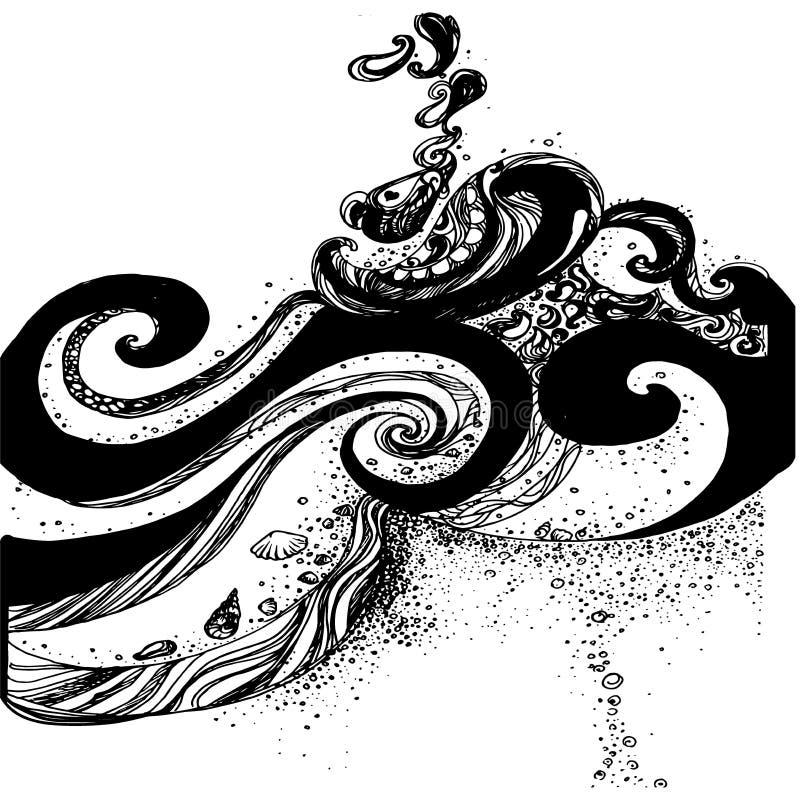 Kreskówek doodles, ręki rysować codzienne ranek rzeczy ilustracja wektor