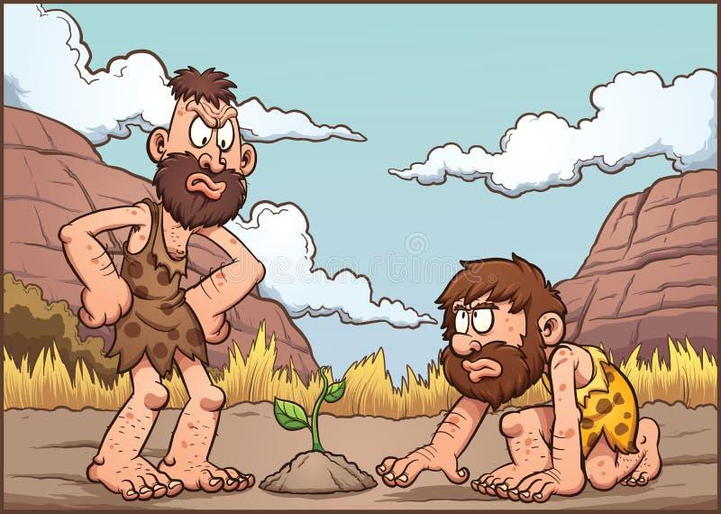 kreskówek dostępni cavemen segregują wysokiego jpeg ablegrującego postanowienia wektor ilustracja wektor