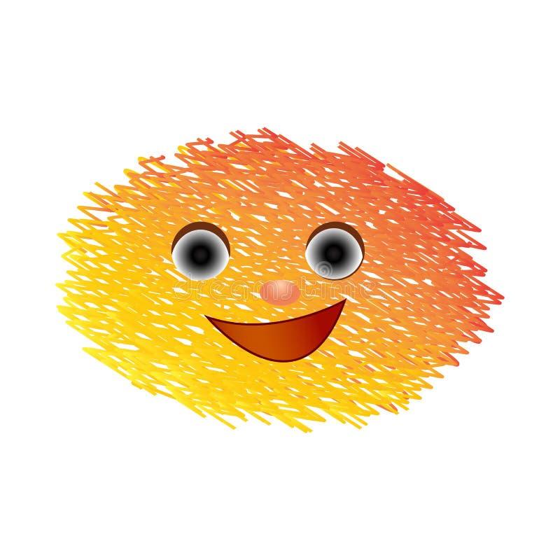 Kreskówek emoticons z uśmiechem na białym tle royalty ilustracja