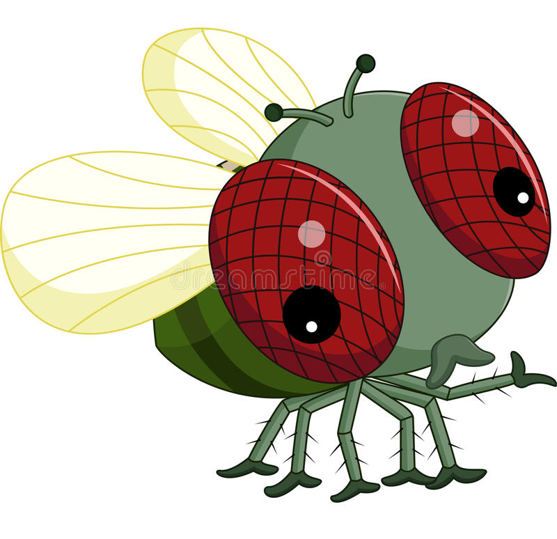kreskówek komarnicy royalty ilustracja