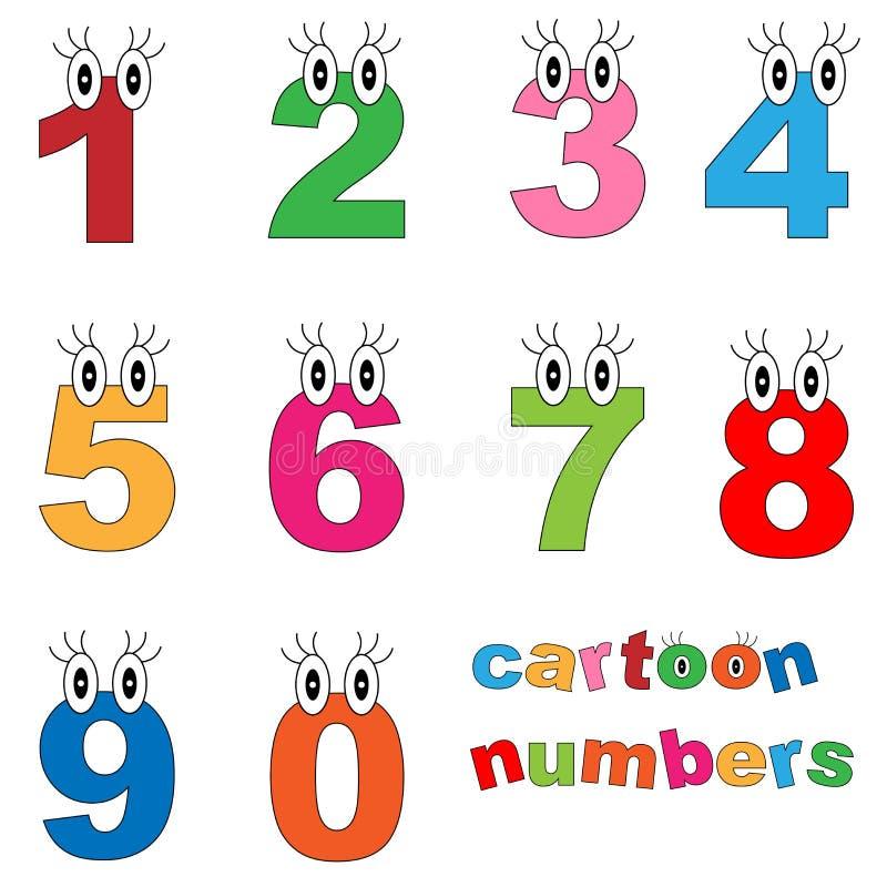 kreskówek liczby royalty ilustracja