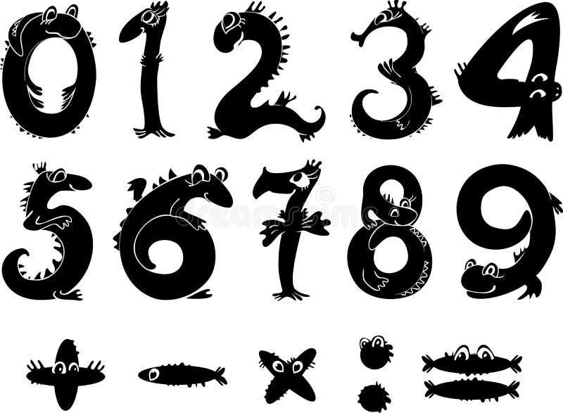 kreskówek liczby ilustracja wektor