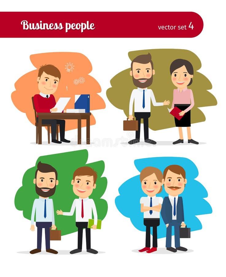 Kreskówek ludzie biznesu ilustracja wektor