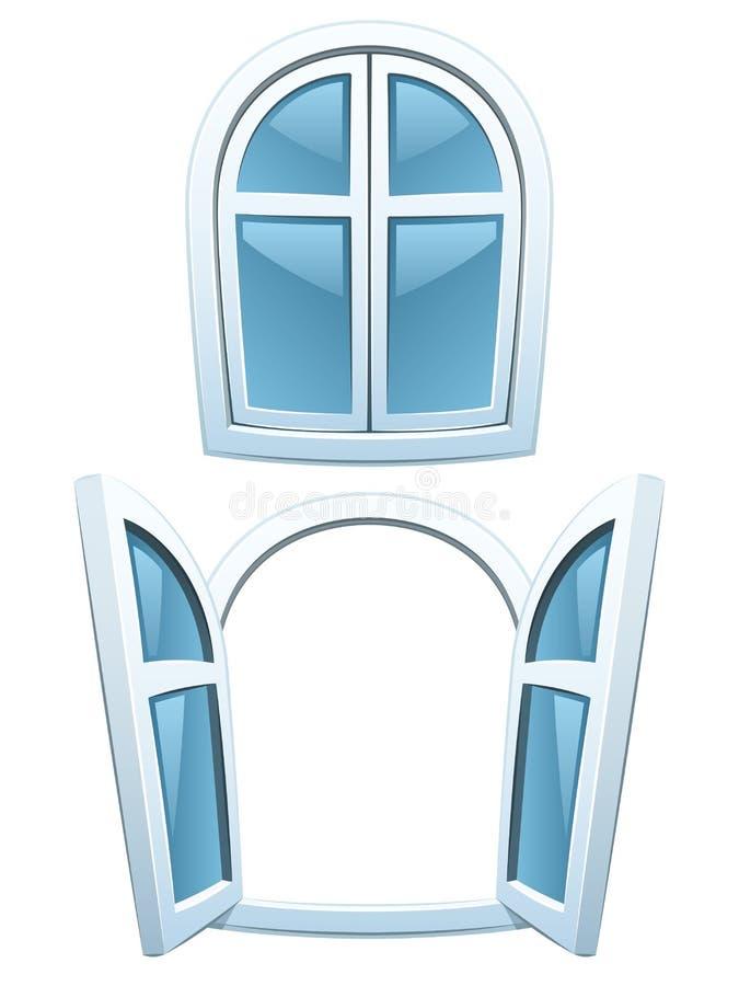 kreskówek okno royalty ilustracja