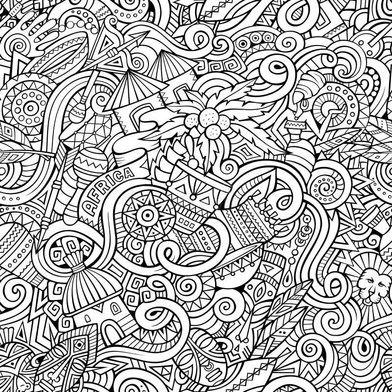 Kreskówek pociągany ręcznie doodles ilustracji