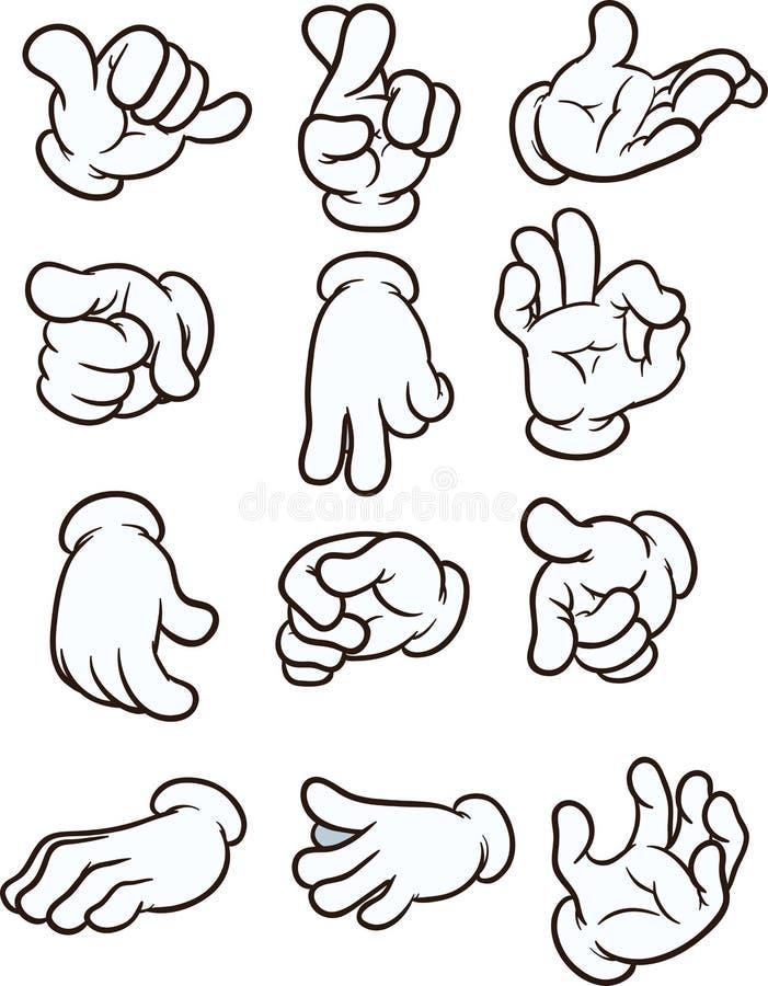 Kreskówek ręki ilustracja wektor