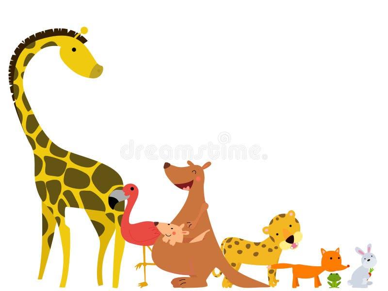 Kreskówek szczęśliwi zwierzęta ilustracji