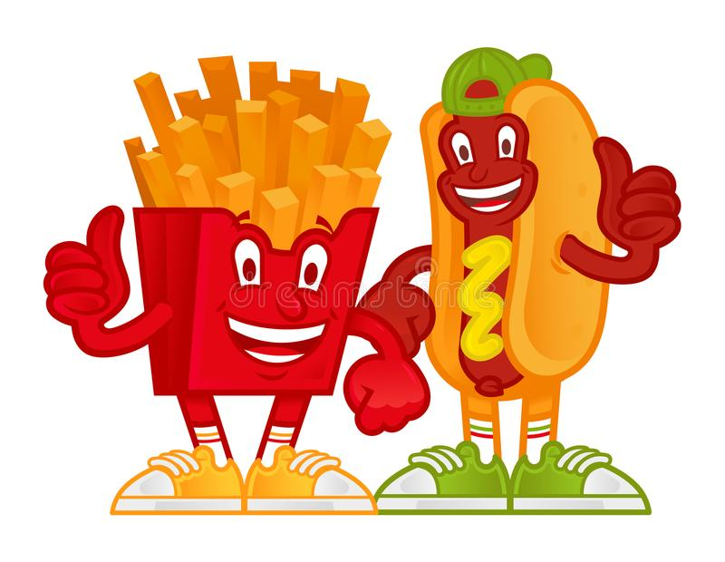 Kreskówek szybcy foods ilustracja wektor