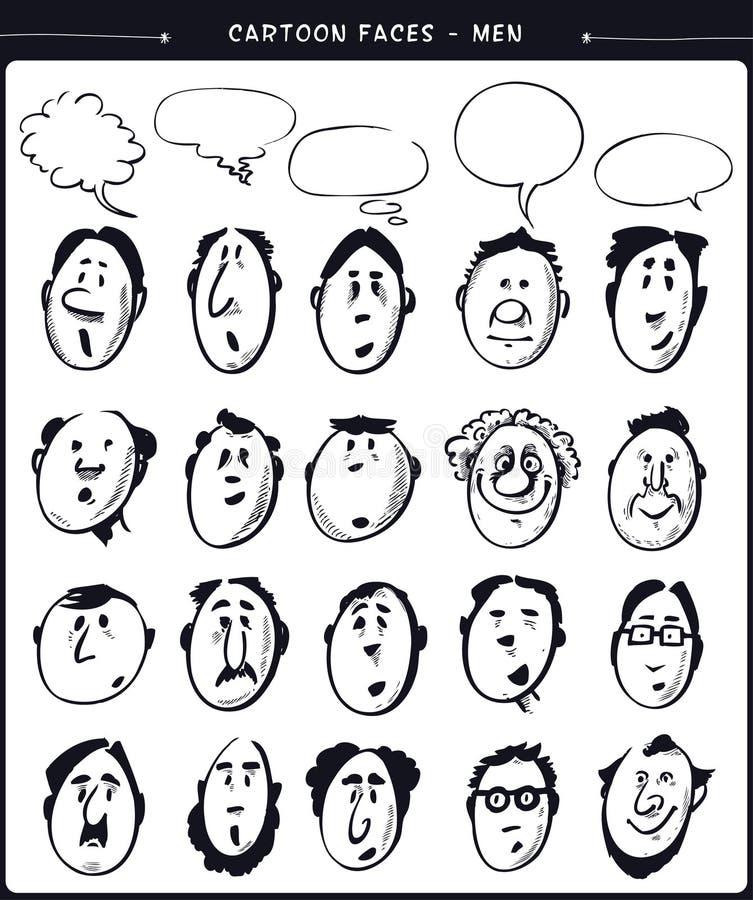 Kreskówek twarzy mężczyzna ilustracja wektor
