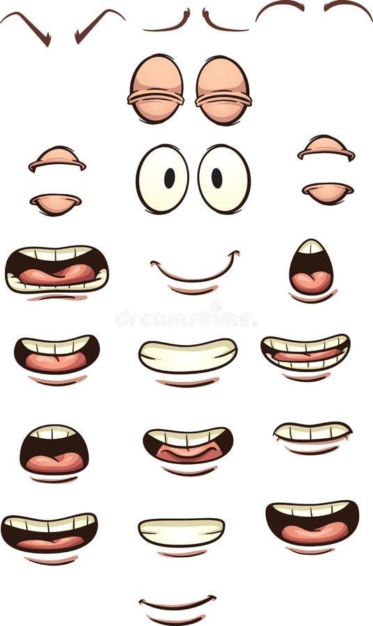 Kreskówek usta ilustracja wektor