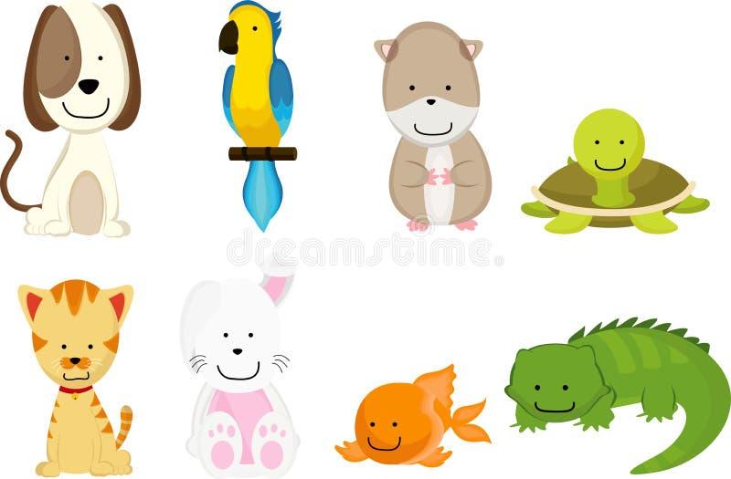kreskówek zwierzęta domowe ilustracja wektor