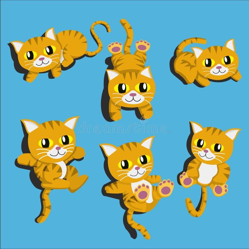 Kreskówka ślicznego kota kreskówek projekta Wektorowy wektor royalty ilustracja