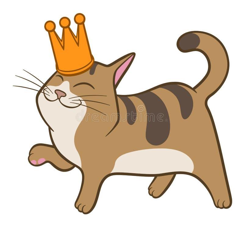 Kreskówka śliczny chodzący kot ilustracja wektor