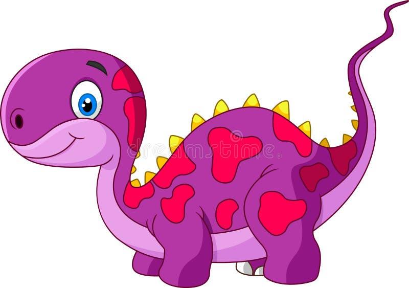 Kreskówka śliczny dinosaur ilustracji