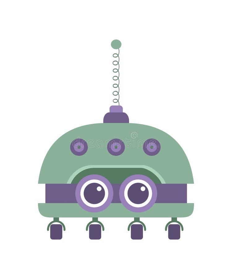 kreskówka śliczny robot ilustracji