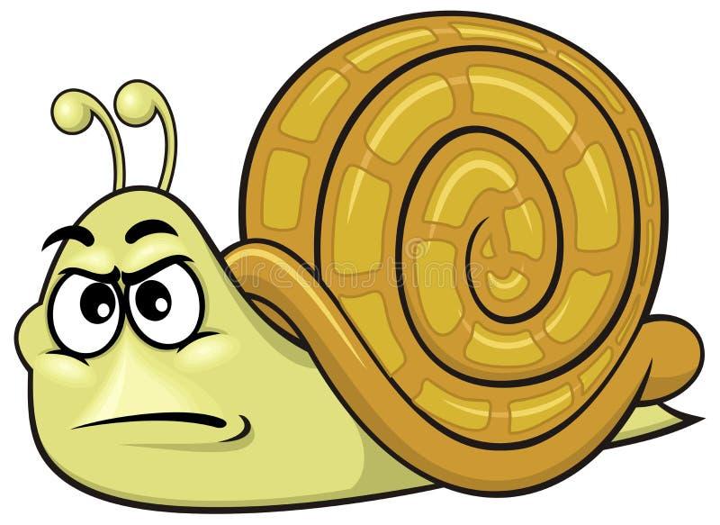 Kreskówka ślimaczek 01 royalty ilustracja