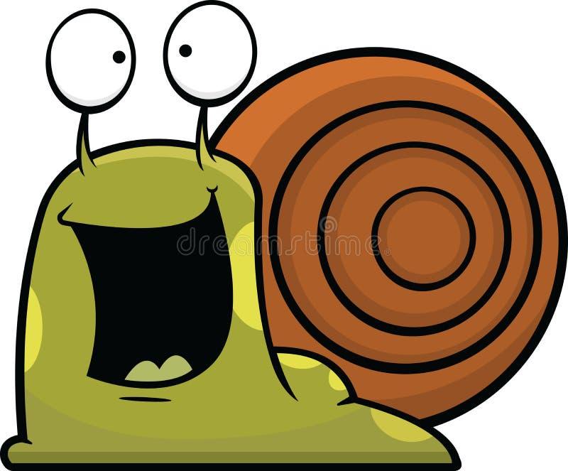 Kreskówka ślimaczek Szczęśliwy ilustracji