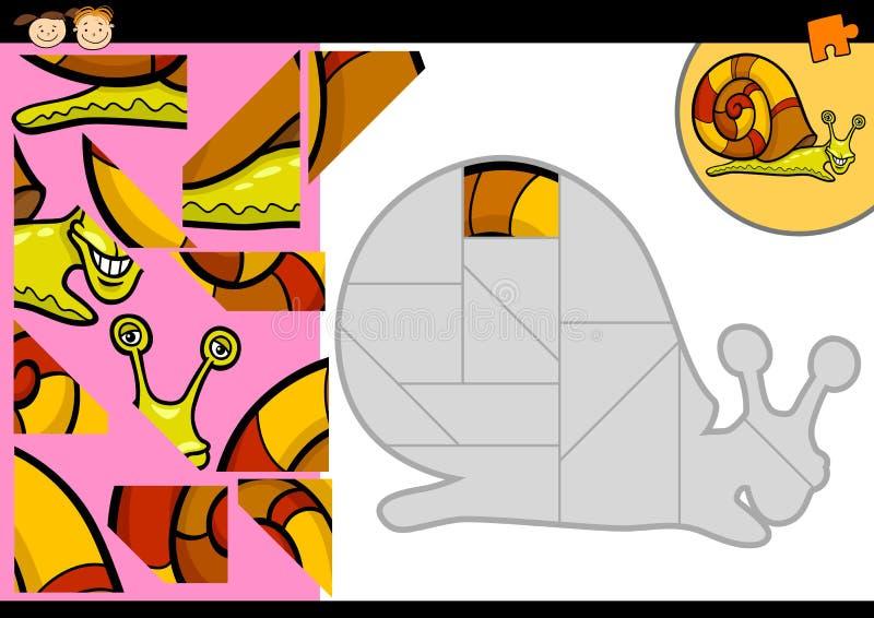 Kreskówka ślimaczka wyrzynarki łamigłówki gra ilustracji