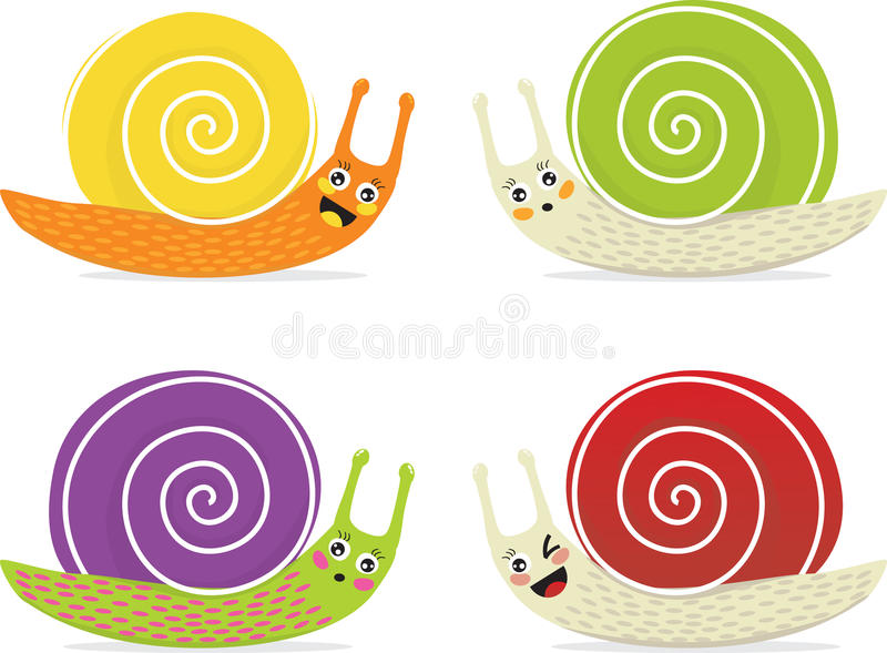 kreskówka ślimaczki royalty ilustracja