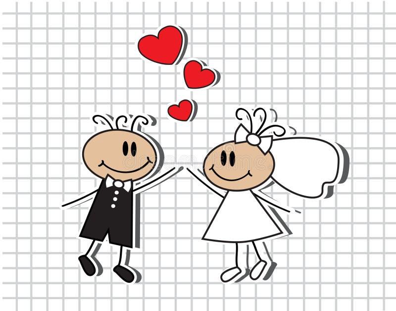 Kreskówka ślub ilustracja wektor