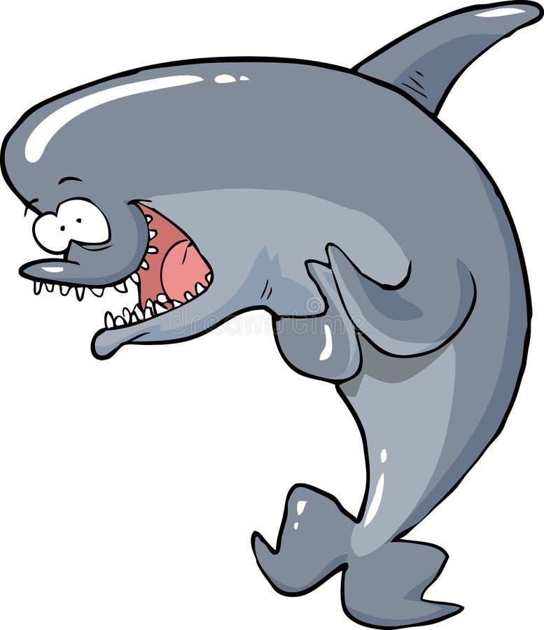 Kreskówka śmieszny delfin ilustracja wektor