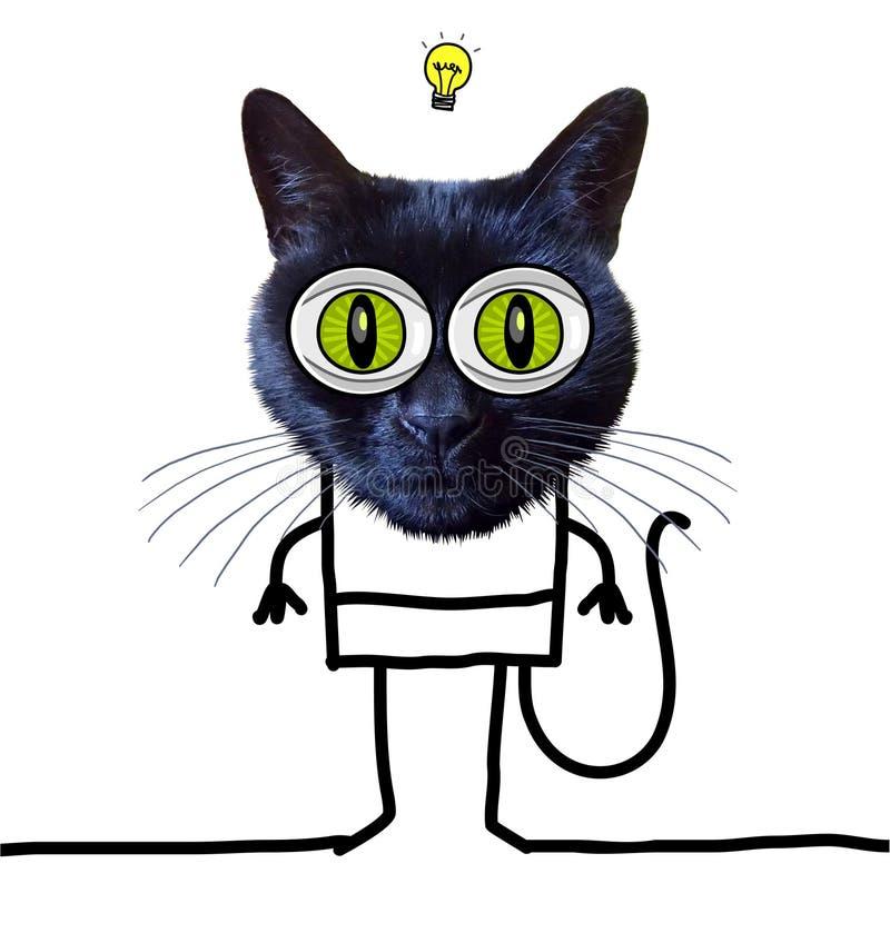 Kreskówka Śmieszny kot Ma pomysł ilustracji